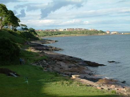 wemyss caves, buckhaven basking in the late evening sunshine