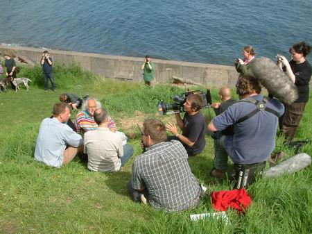 wemyss caves, filming taking place