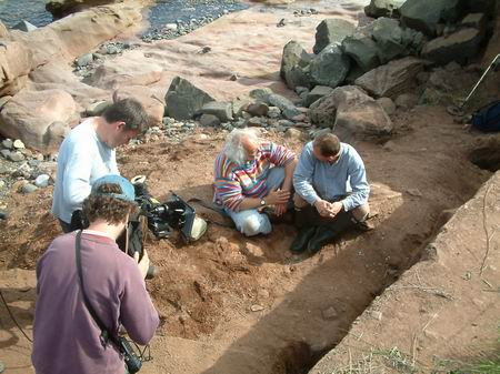 wemyss caves, filming again at the beach trench