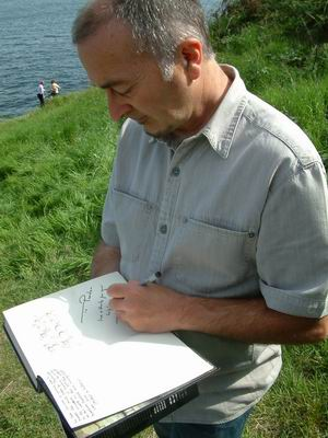wemyss caves, tony signs book